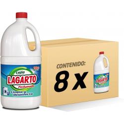 Chollo - Pack 8x Lejía Lagarto Perfumada 8x1500ml