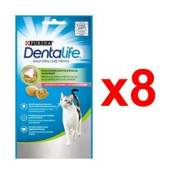 Chollo - Pack 8x Purina DentaLife Snack Dental para Gatos (8x40g)