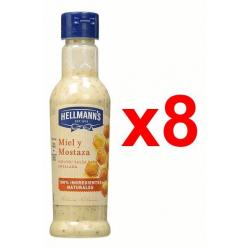 Chollo - Pack 8x Salsa para ensalada Hellmann's Miel y Mostaza (8x210 ml)