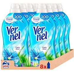 Chollo - Pack 8x Vernel Cielo Azul Suavizante Concentrado (456 lavados)