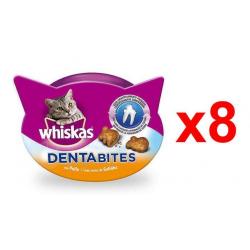 Chollo - Pack 8x Whiskas Dentabites Snack para Gatos Higiene Oral (8x40g)