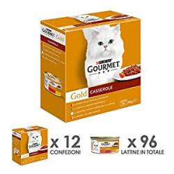 Chollo - Pack 96 latas de Purina Gourmet Gold Comida Húmeda para Gato Doble Placer Surtido (8x 12 latas)