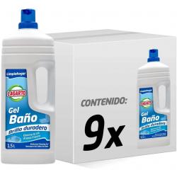 Chollo - Pack 9x Limpiahogar Lagarto Gel Baño (9x1.5L)
