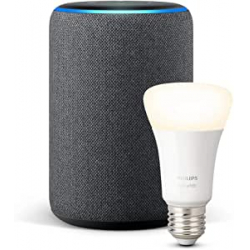 Chollo - Pack Amazon Echo Plus (2.ª generación) + Philips Hue White Bombilla LED E27