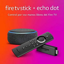 Pack Amazon Fire TV Stick con Mando Alexa (2.ª gen.) + Echo Dot (3.ª gen.)