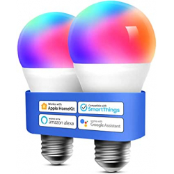 Chollo - Pack de 2 Bombillas inteligentes Meross 9W E27 WiFi RGB - MSL120HKKIT