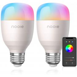 Pack de 2 Bombillas inteligentes Nooie Aura RGB 10W E27