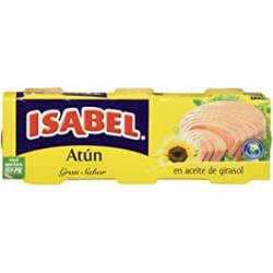Chollo - Pack de 3 latas de atún Isabel en aceite de girasol 240g (3x80g)