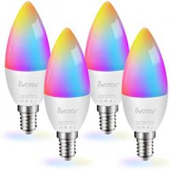 Chollo - Pack de 4 bombillas LED inteligentes Avatar Controls E14 5W RGBCW WiFi Bluetooth
