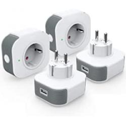 Chollo - Pack de 4 enchufes inteligentes KKCOOL SB-122 WiFi USB