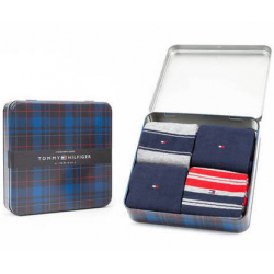 Chollo - Pack de 4 Pares de calcetines Tommy Hilfiger Original en caja de regalo - 100000845004