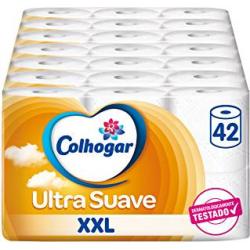 Chollo - Pack de 42 Rollos de Colhogar Papel Higiénico Doble Ultra Suave XXL
