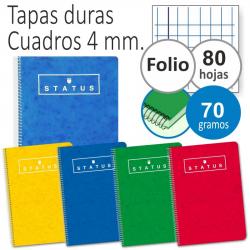 Chollo - Pack de 5 Cuadernos Enri Status Espiral Tapa Dura 80 Hojas 70g