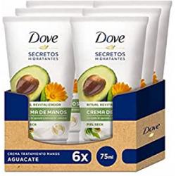 Pack 6x Dove Crema de Manos Aceite de Aguacate y Extracto de Caléndula (6x75ml)