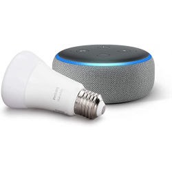 Chollo - Pack Echo Dot (3.ª generación) + Bombilla Philips Hue White