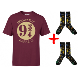 Chollo - Pack Harry Potter 2 Pares de Calcetines Horcrux + Camiseta Hogwarts Express Platform 9 3/4
