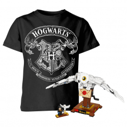 Chollo - Pack Harry Potter: LEGO Hedwig + Camiseta Escudo Hogwarts