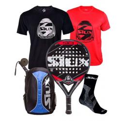 Chollo - Pack Pala Siux SX3 + Mochila Siux Trail + 2 Camisetas + Calcetines Técnicos + Overgrip