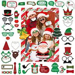 Chollo - Photocall de Navidad + 42 Accesorios de Atrezzo