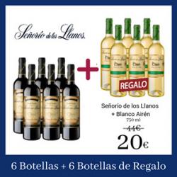 Chollo - Pack Señorío de los Llanos D.O. Valdepeñas 6x Tinto Reserva + 6x Blanco Airén (12x 750 ml)