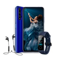 Chollo - Pack Smartphone Honor 20 6GB/128GB + Honor Band 4 + Earphones Honor Sport