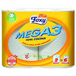 Chollo - Papel de Cocina Foxy Mega3 (2 rollos)