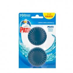 Chollo - Pato WC Matic agua azul bloque desodorizante cisterna baño pastilla 2 Unidades