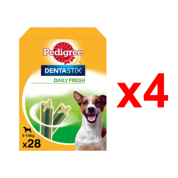 Chollo - Pedigree Dentastix Daily Fresh Snack Perros pequeños Pack 4x 28uds