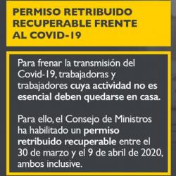Chollo - Permiso Retribuido Recuperable COVID-19 (BOE, aclaraciones y consultas)