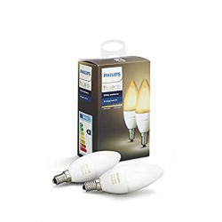 Chollo - Philips Hue White Ambiance Pack 2 Bombillas Vela E14