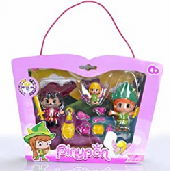 Chollo - Pinypon Set Figuras Peter Pan Garfio y Campanilla (Famosa 700012738)