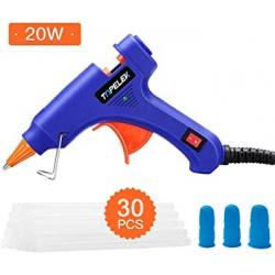Chollo - Pistola de silicona Topelek + 30 Barritas + 3 Protectores de dedo