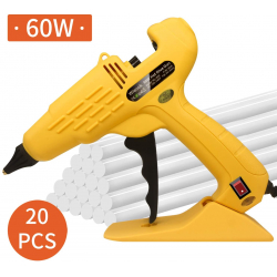 Chollo - Pistola de silicona Wiecok 60W + 20 Barras de pegamento