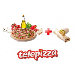 Chollo - Pizza Mediana 5 Ingredientes + Enrollado a Domicilio