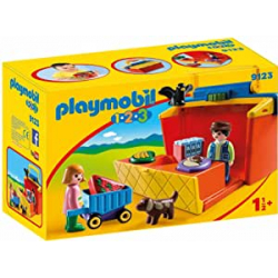 Chollo - Playmobil 1.2.3 Mercado Maletín (9123)