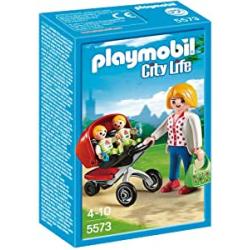 Chollo - Playmobil City Life Mamá con Carrito de Gemelos