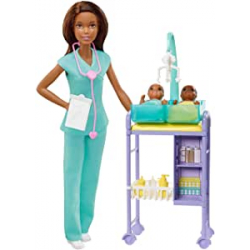 Chollo - Playset Barbie Pediatra - Mattel GKH24