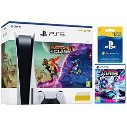 Chollo - PlayStation 5 Standard + Ratchet & Clank: Una Dimensión Aparte + Destruction AllStars + Suscripción PlayStation Plus 365