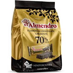 Chollo - Porciones de turrón de chocolate crujiente 70% El Almendro 400g