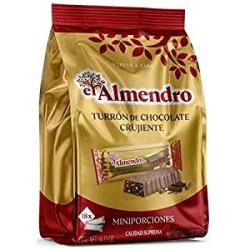 Chollo - Porciones de turrón de chocolate crujiente El Almendro 400g