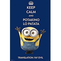 Chollo - Póster Minions Keep Calm and Potakino Lo Patata - Grupo Erik Editores GPE4858