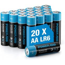Chollo - Poweradd AA LR6 1.5V Pila alcalina Pack 20uds