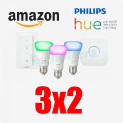 Chollo - Promoción 3x2 en dispositivos Philips HUE en Amazon
