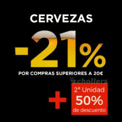 Chollo - Promoción doble: Descuento -21% + 2ª unidad al 50%  en Cervezas en ECI