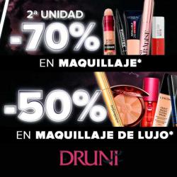 Chollo - Promociones en maquillaje en Druni: -50% en maquillaje de lujo / 2ª unidad -70% en maquillaje low-cost