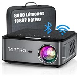 Chollo - Proyector WiFi Bluetooth 1080P, 8000 Lúmenes 4K Soporte por 156.74€