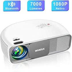 Chollo - Proyector WiMiUS S4 1080P Dolby Bluetooth 5.0