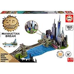 Chollo - Puzzle 3D Puente de Brooklyn (160 piezas)