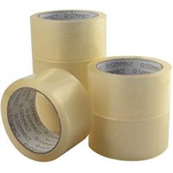 Chollo - Q-Connect KF04382 Cinta Adhesiva Polipropileno Transparente 66mx50mm Pack 6x Rollos | KF04382