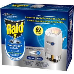 Chollo - Raid Protection Plus Anti Mosquitos Común y Tigre 60 Noches (difusor + recambio sin olor)
